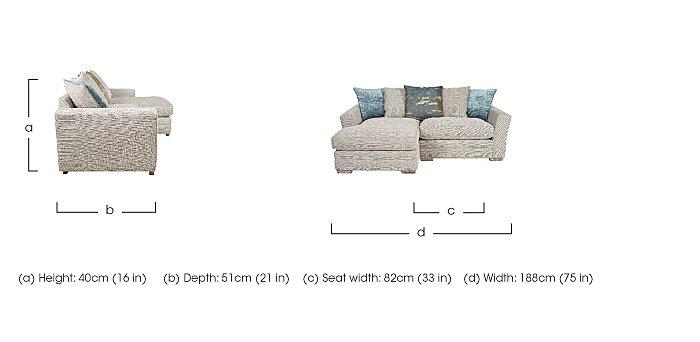 Ashridge Small Fabric Corner Chaise in  on Furniture Village