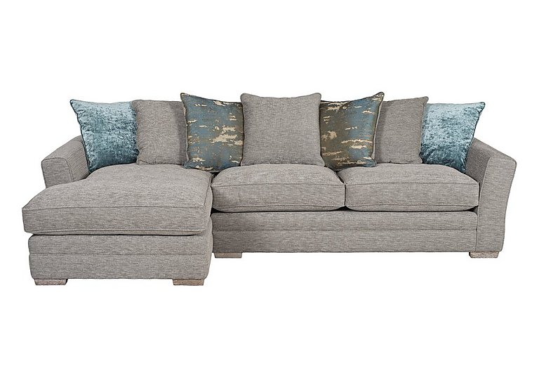 Ashridge Large Fabric Corner Chaise in Stone Slate Brad Marble Lo Ft on Furniture Village