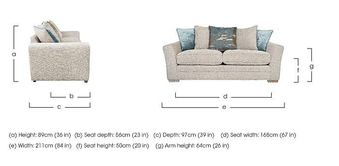 Ashridge 3 Seater Fabric Sofa in  on Furniture Village