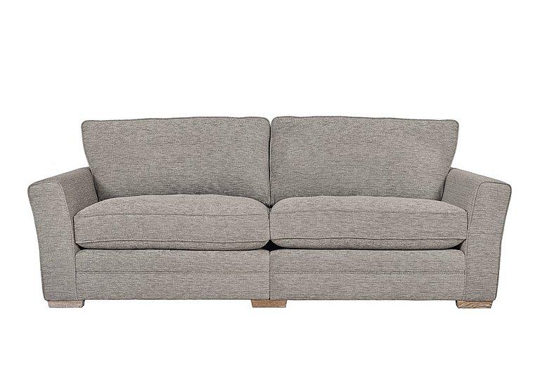 Ashridge 4 Seater Fabric Sofa in Cavolo Plain Stone Lo Ft on Furniture Village