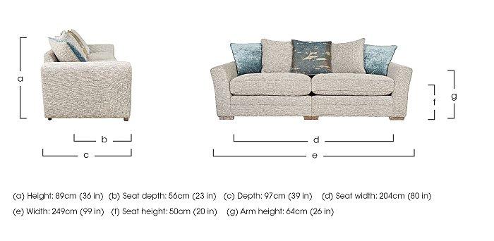 Ashridge 4 Seater Fabric Sofa in  on Furniture Village