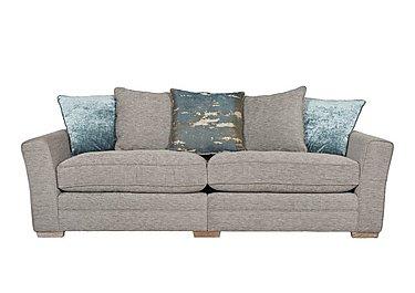 Ashridge 4 Seater Fabric Sofa in Stone Slate Brad Marble Lo Ft on Furniture Village
