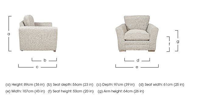 Ashridge Fabric Armchair in  on Furniture Village