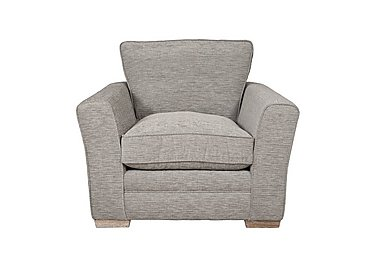 Ashridge Fabric Armchair in Cavolo Plain Stone Lo Ft on Furniture Village