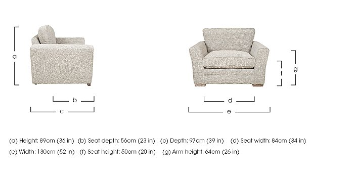 Ashridge Fabric Snuggler Armchair in  on Furniture Village