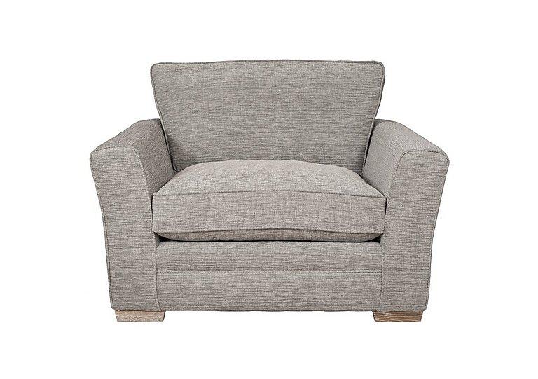 Ashridge Fabric Snuggler Armchair in Cavolo Plain Stone Lo Ft on Furniture Village