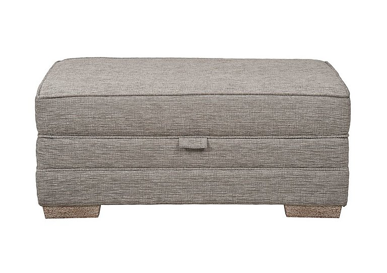 Ashridge Large Fabric Storage Footstool in Cavolo Plain Stone Lo Ft on Furniture Village