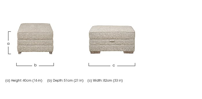 Ashridge Small Fabric Storage Footstool in  on Furniture Village