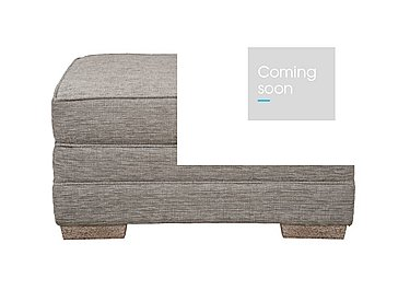 Ashridge Small Fabric Storage Footstool in Cavolo Plain Stone Lo Ft on Furniture Village