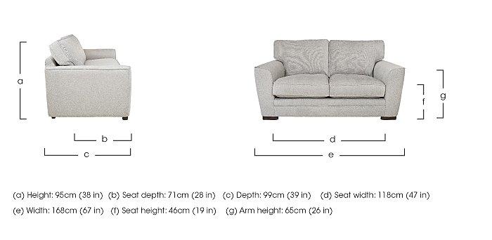 Wilton 2 Seater Fabric Sofa in  on Furniture Village