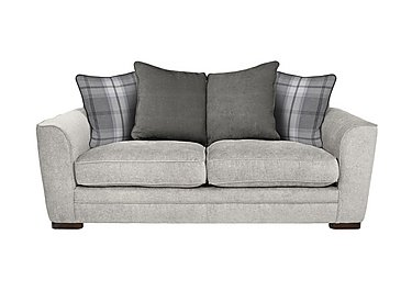 Wilton 3 Seater Fabric Pillow Back Sofa in Steel Graphi Balm D Grey Dk Ft on Furniture Village