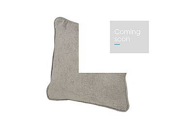 Wilton Fabric Scatter Cushion in Fusion Plain Steel on Furniture Village