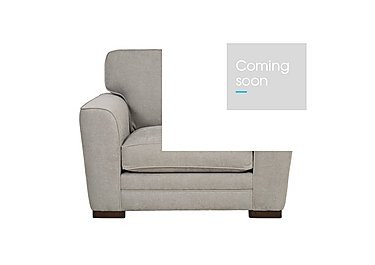 Wilton Fabric Snuggler Armchair in Fusion Plain Steel Dk Ft on Furniture Village