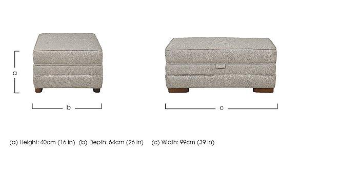 Wilton Large Fabric Storage Footstool in  on Furniture Village