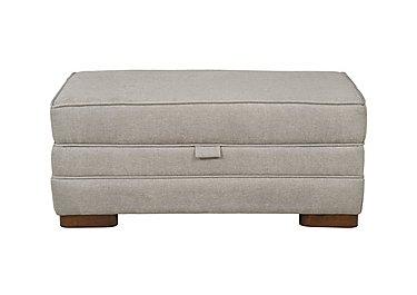 Wilton Large Fabric Storage Footstool in Fusion Plain Steel Dk Ft on Furniture Village