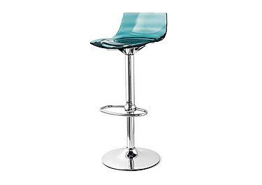 Leau Bar Stool in Aquamarine on Furniture Village