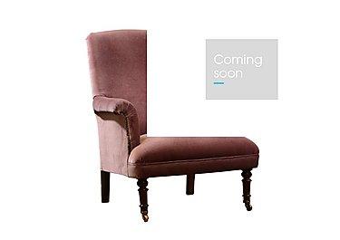 Vivienne Fabric Armchair in 919 Dusty Pink / Walnut Feet on Furniture Village
