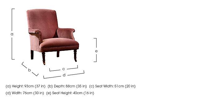 Vivienne Fabric Armchair in  on Furniture Village