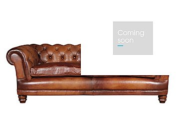 Chatsworth 4 Seater Leather Sofa in Bangkok Cognac Natural Feet on Furniture Village