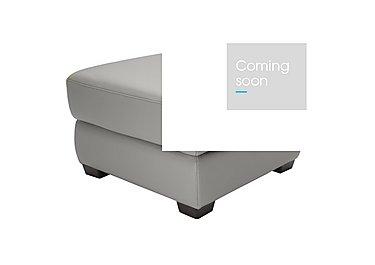 Alvera Leather Storage Footstool in Denver 10bz Sg Medium Grey on Furniture Village