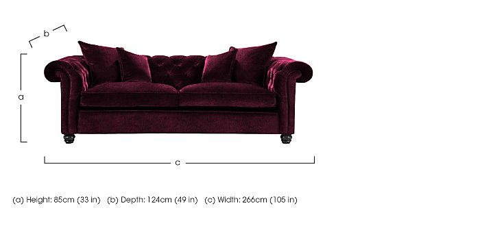Curzon 4 Seater Fabric Sofa in  on Furniture Village