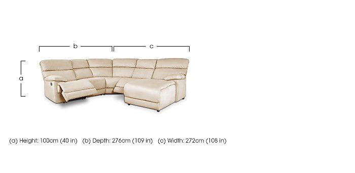 Cupola Right Hand Facing Corner Sofa in  on Furniture Village