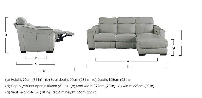 Cressida Leather Recliner Corner Chaise Sofa in  on Furniture Village