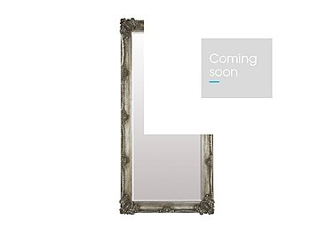Abbey Leaner Mirror in Silver on Furniture Village