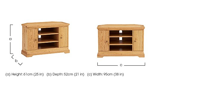 Compton Oak Corner TV Unit in  on Furniture Village