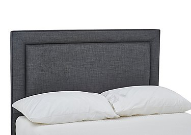 Solutions Columbia Headboard in Linoso Charcoal on Furniture Village