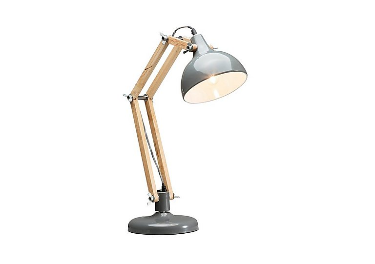 Work Station Table Lamp in Grey on Furniture Village