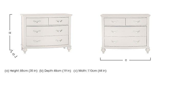 Annecy 2+2 Drawer Chest in  on Furniture Village