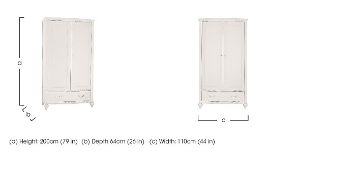 Annecy Double Wardrobe in  on Furniture Village