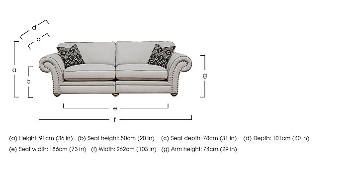 Langar 4 Seater Fabric Sofa in  on Furniture Village