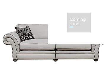 Langar 4 Seater Fabric Sofa in Merch Linen Cloud Light Feet on Furniture Village