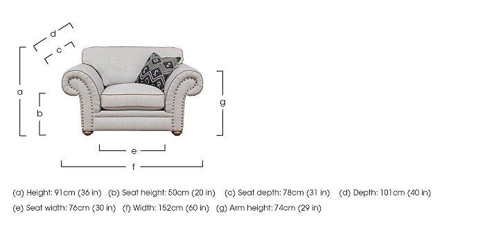 Langar Fabric Snuggler Chair in  on Furniture Village