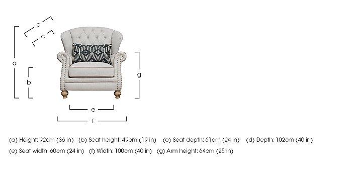 Langar Wing Chair in  on Furniture Village