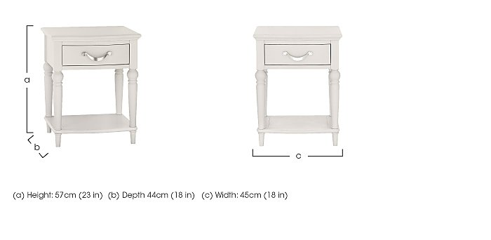 Annecy 1 Drawer Nightstand in  on Furniture Village