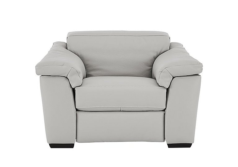 Sensor Leather Recliner Love Seat in Phoenix 15g3 Lgt Taupe Cs Whit on Furniture Village