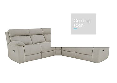 Moreno Fabric Recliner Corner Sofa in Bfa-Blj-Rt946 Silver Grey on Furniture Village