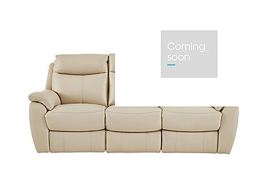 Snug 3 Seater Leather Recliner Sofa in Bv-862c Bisque on Furniture Village
