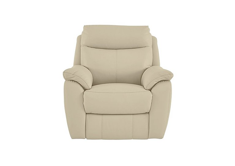 Snug Leather Recliner Armchair in Bv-862c Bisque on Furniture Village