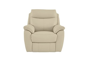 Snug Leather Recliner Armchair in Bv-862c Bisque on Furniture Village