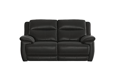 Touch 2 Seater Leather Recliner Sofa in Bv-3500 Classic Black on Furniture Village