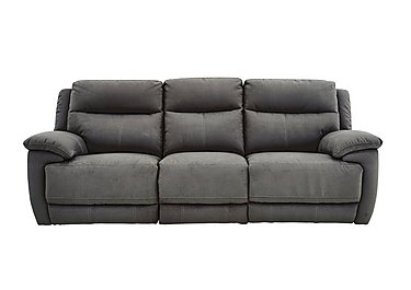 Touch 3 Seater Fabric Recliner Sofa in Bfa-Blj-Rt16 Grey on Furniture Village