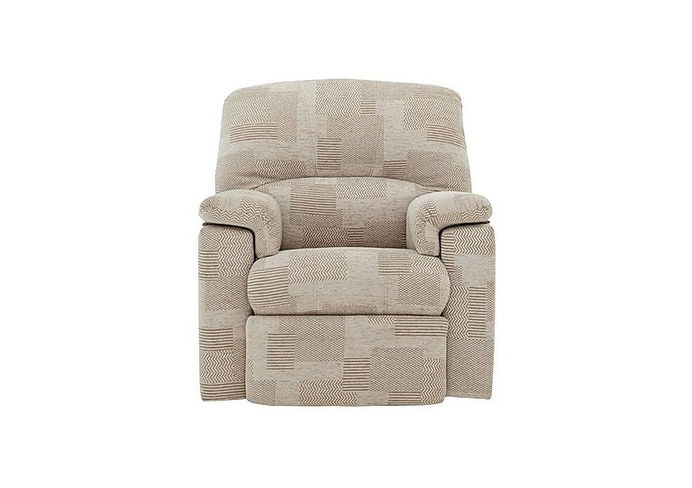 Chloe Small Fabric Recliner Armchair in C008 Checkers Putty on Furniture Village