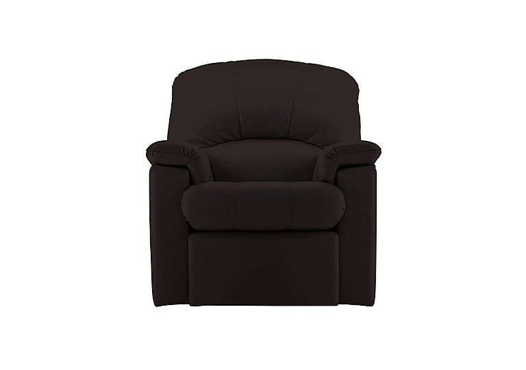 Chloe Small Leather Recliner Armchair in P200 Capri Chocolate on Furniture Village