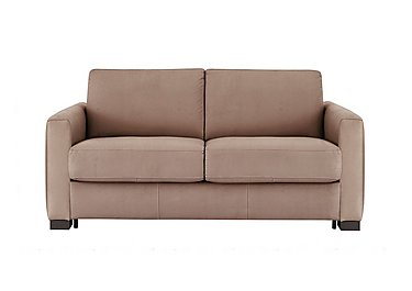 Alcova 2 Seater Fabric Sofa Bed with Box Arms in Flambe 4310-25 Caffe on Furniture Village