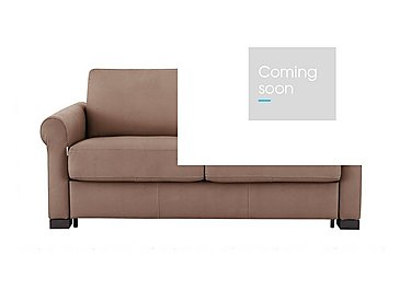 Alcova 2 Seater Fabric Sofa Bed with Scroll Arms in Flambe 4310-25 Caffe on Furniture Village