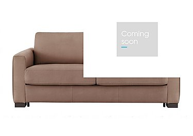 Alcova 3 Seater Fabric Sofa Bed with Box Arms in Flambe 4310-25 Caffe on Furniture Village